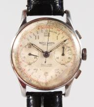 A GENTLEMAN'S REPCO WATCH TRAMELAN with leather strap.