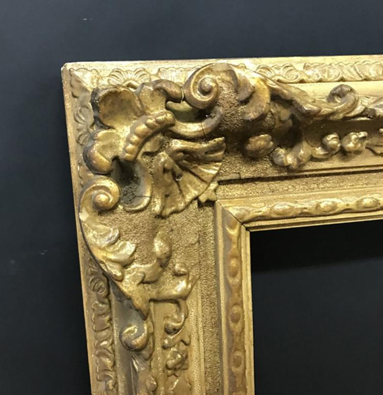20th Century English School. A Gilt Swept Centres and Corners Composition Frame, 30