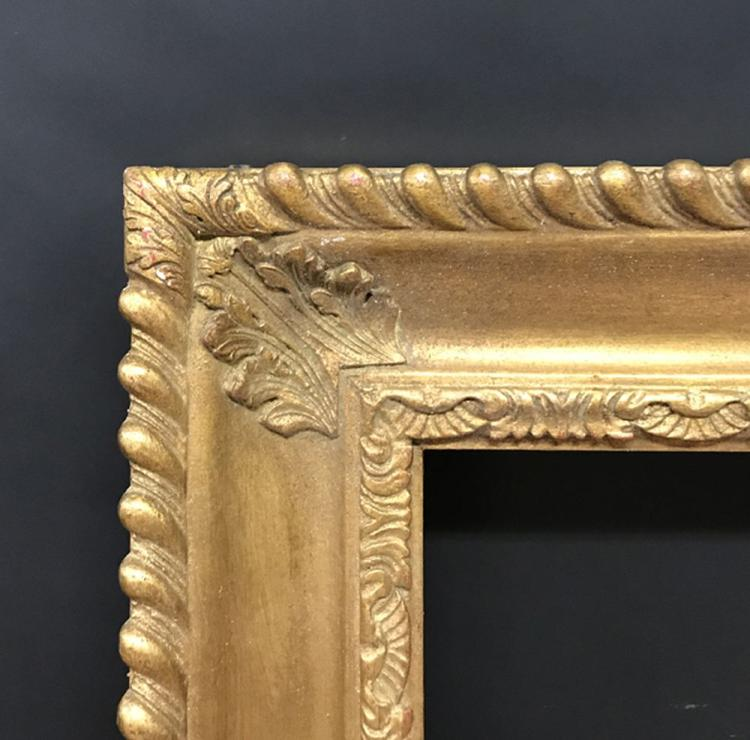 20th Century English School. A Ribbed Gilt Composition Frame, 44