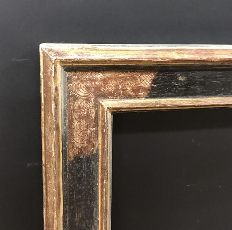 20th Century English School. A Gilt and Painted Composition Frame, 25