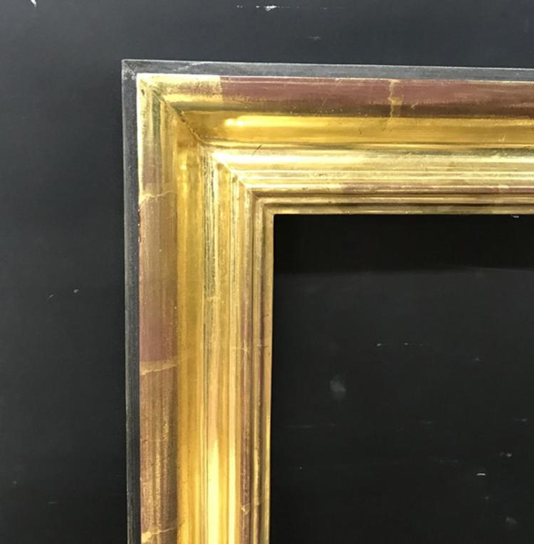 20th Century English School. A Gilded and Black Painted Frame, 22