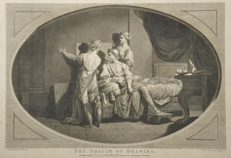 Simon Francois Ravenet (1706-1774) French after John Hamilton Mortimer (1741-1779) British.