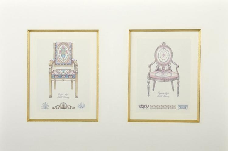 20th Century English School. 'Empire Style XVIII Century Chair', Print, 5