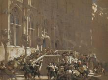 Louis Haghe (1806-1885) Belgian.