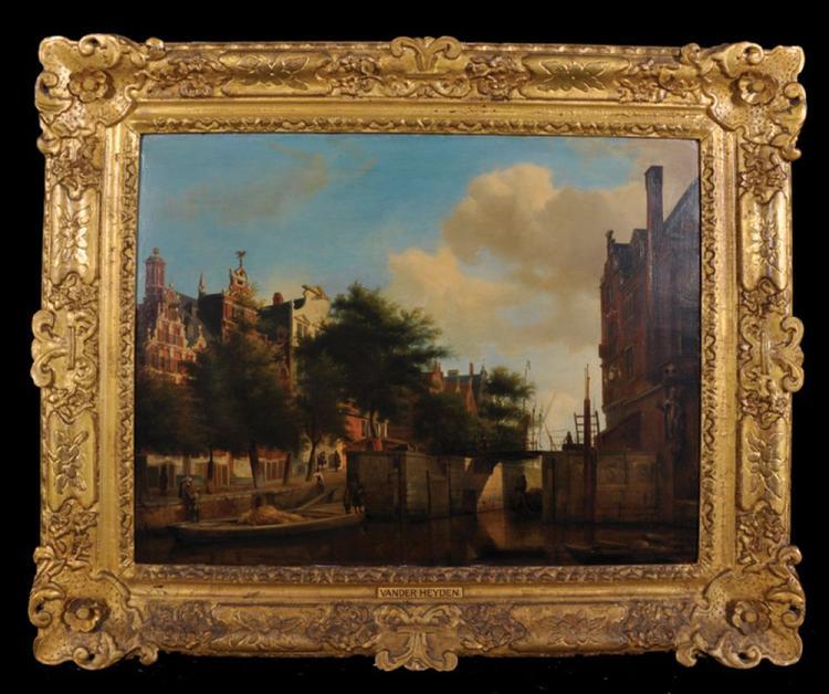 After Jan van der Heyden (1637-1712) Dutch, and Adriaen van de Velde (1636-1672) Dutch.