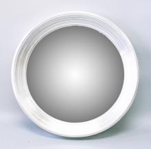 A LARGE SILVER GILT FRAMED CONVEX MIRROR. <br>2ft 9ins diameter.