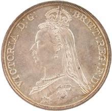AN 1887 VICTORIA CROWN - G/EF.