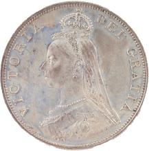 AN 1887 VICTORIA DOUBLE FLORIN PROOF - ARABIC 1.