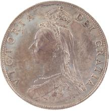AN 1887 VICTORIA FLORIN - EF/VF.