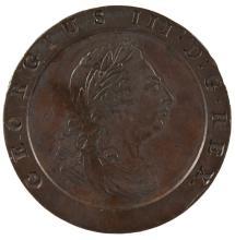 A GEORGE III COPPER CARTWHEEL TWOPENCE 1797 - G/VF.
