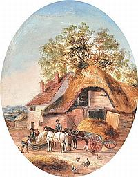 MANNER OF GEORGINA LARA (FL. 1862-1871) BRITISH - Village Scenes
