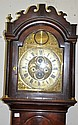 A GEORGE III MAHOGANY LONGCASE CLOCK with eight