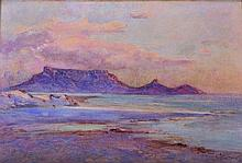 """Constance Penstone (1865-1928) South African. 'Table Mountain', Watercolour, Signed, 14"""" x 20.5""""."""