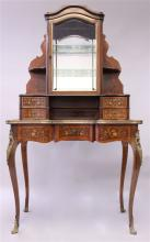 A GOOD 19TH CENTURY FRENCH ROSEWOOD, KINGWOOD, ORM