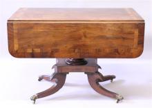 A REGENCY MAHOANY DROP FLAP MAHOGANY PEMBROKE TABL