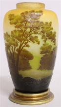 EMILE GALLE <br>A SUPERB CAMEO GLASS VASE, with a