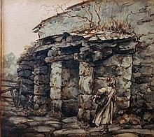 Circle of William Holman Hunt (1827-1910) British.