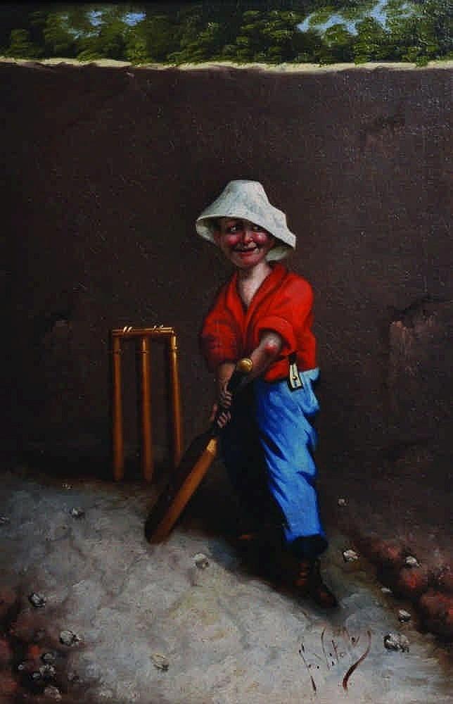 Ferruccio Vitale (1875-1933) Italian. The Cricket