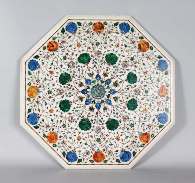 Sensational A Fine Pietra Dura Work Inlaid Marble Table Top Agra India Download Free Architecture Designs Scobabritishbridgeorg