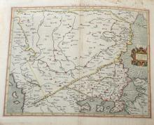 Attributed to Gerhard Mercator (1512-1594) German/Netherland. A Roman Dacian Map, Unframed, 13.5