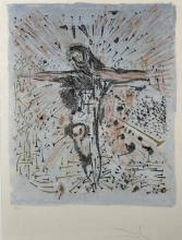 Salvador Dali (1904-1989) Spanish. The Fallen Christ, Lithograph, Signed and numbered 178/500, overall 24