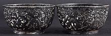 A PAIR OF LATE 19TH CENTURY CHINESE EXPORT SILVER