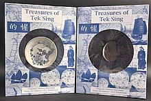 A CHINESE TEK SING CARGO BLUE AND WHITE SAUCER