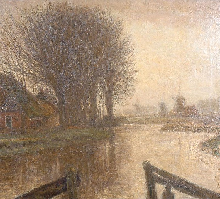 FRANCISCUS HERMANUS BACHG (1865-1956) DUTCH River