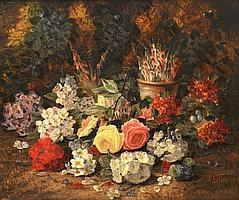 Henry John Livens (1848-1943) British. Still life