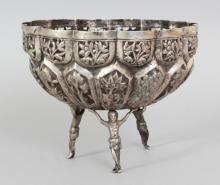Indian  amp  South Asian Art  amp  Antiques for Sale   Invaluable Invaluable com A SOUTH EAST ASIAN EMBOSSED SILVER METAL BOWL  weighing    gm  supported on