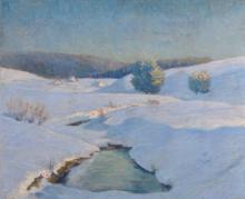 G... Segartini (20th Century) Continental. A Winter Snow Covered Landscape, Oil on Board, Signed, 20