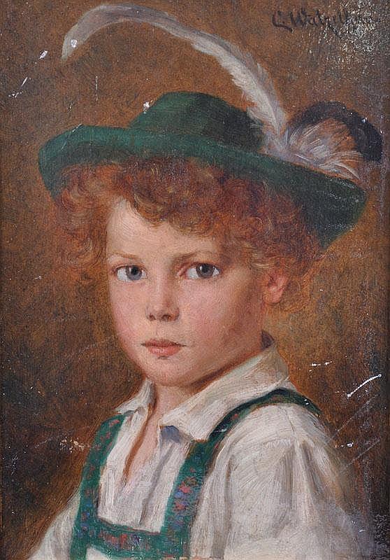 CARL WATZELHAN (1867-1942) AUSTRIAN Portrait, head
