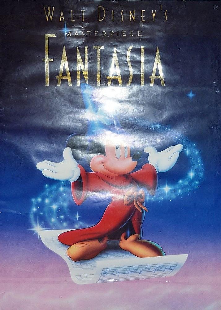 A Walt Disney Fantasia Poster 38ins X 24ins Behind Paper