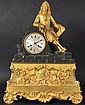 A 19TH CENTURY FRENCH BOULLE AND ORMOLU CLOCK, the