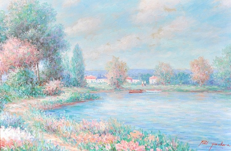 Paul Pollaro (20th Century) British. A River scene