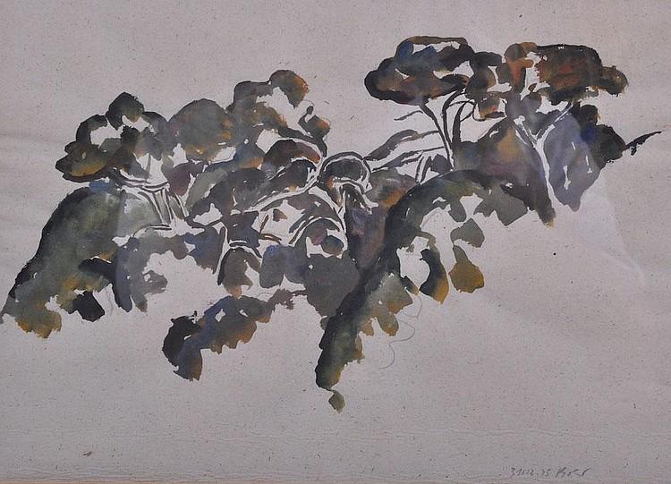 MIKLOS BOKOR (GREEK) Abstract. Gouache on thin