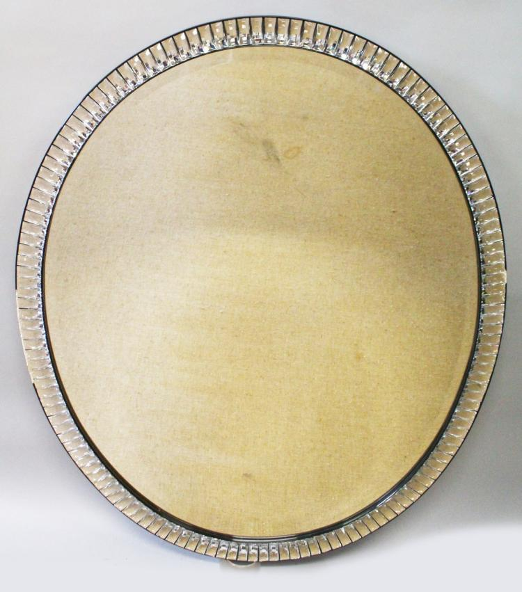 A large irish glass frame mirror with bevelled mirror panel for Long glass mirror