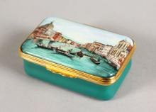 A HALCYON DAYS CANALETTO COMMEMORATIVE SNUFF BOX 1697-1997, No. 243 of 300.