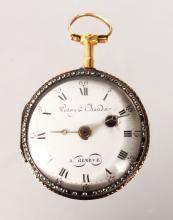 A SMALL 18TH CENTURY GOLD POCKET WATCH by PATRY & CHAUDOIN, GENEVA.