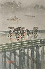 Ginnosuke Yokouchi (1870-1942) Japanese. A Bridge