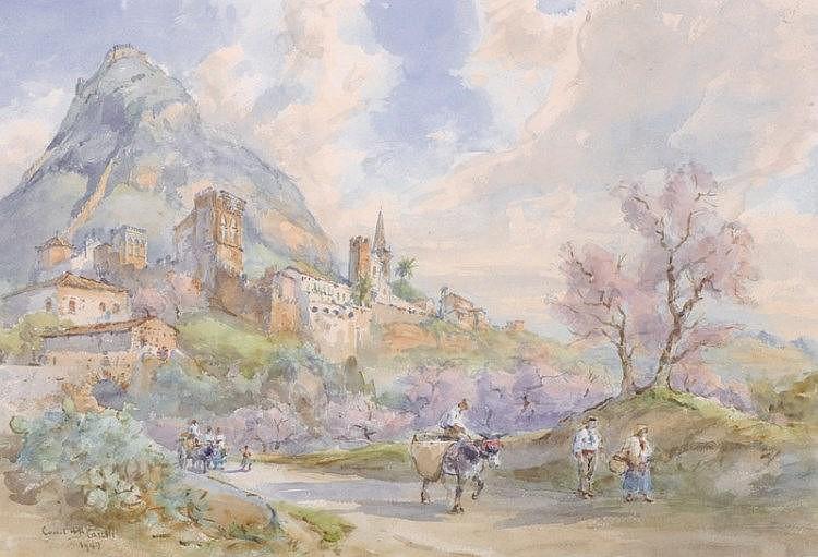 Conrad H… R… Corelli (1869-   ) British/Italian.   An Italia