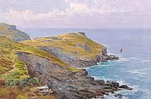 Attributed to John Brett (1831-1902) British. A Coastal Sc