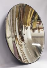 A RARE LIGHTHOUSE CONCAVE REFLECTING MIRROR, etched with makers name
