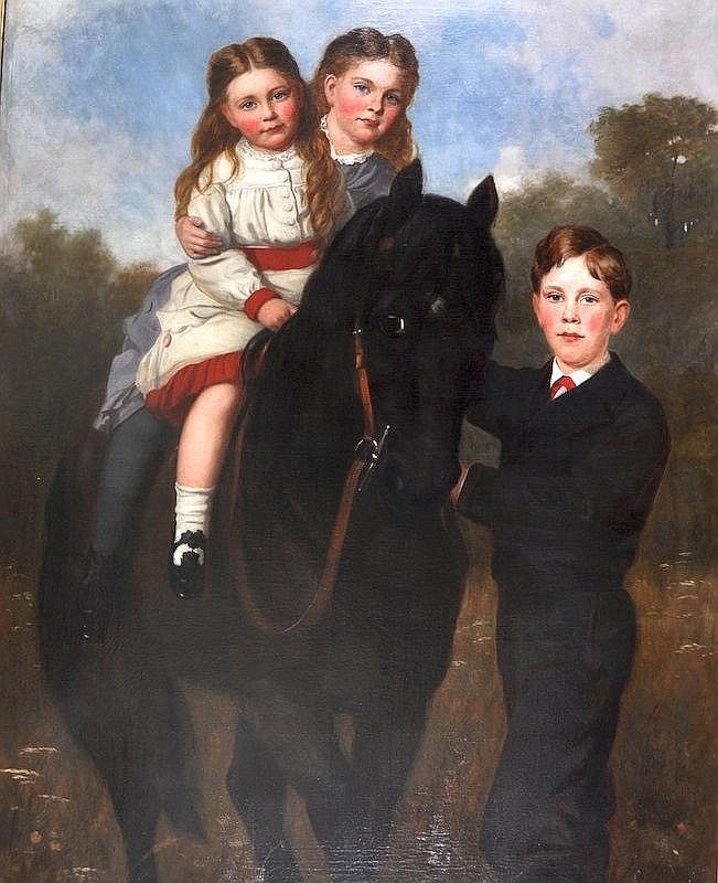 OIL PAINTING: J. SYDNEY WILLIS HODGES (1829-1900)