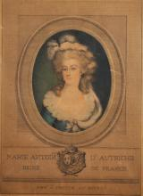 19th Century French School. Portrait of Marie Antoinette, Engraving, 15