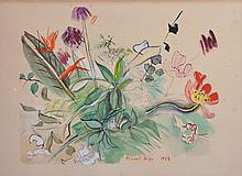 After Raoul Dufy (1877-1953) French. Flowers, Circa 1953, Lithograph, 10.5