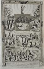 18th Century English School. Scene from Fire and Brimstone, Engraving, Unframed, 14.25