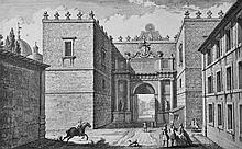 Giuseppe Vasi (1710-1782) Italian. 'Porta del Popolo olim Flaminia', Engraving, 7.25