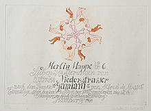 """Katinka Niederstrasser (1939- ) German. """"Marlin Mappe Nr. 6"""", 'Lieben Radierungen von Katinks Niederstrasser, nach dem Roman """"Gamiani"""" von Alfred de Musset (1810-1857, French), Einmalige sign. & num. Auflage von 100 Exemplaren. Dies ist Nr.2, Handpressen druck Fetthauer & Loding Hamburg 1969', Etching, Signed and numbered 2/100 in Pencil, Unframed, 7.75"""" x 11"""", and six others by the same hand, in original folio, a set of seven (7)."""