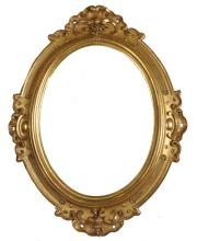 19th Century English School. An Elaborate Carved Giltwood Frame, Oval, 27.5